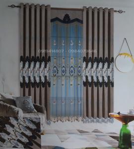 Màn cửa vải thêu - T23